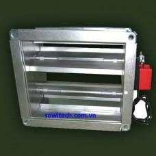Van điện kiểu ống vuông (MDF)